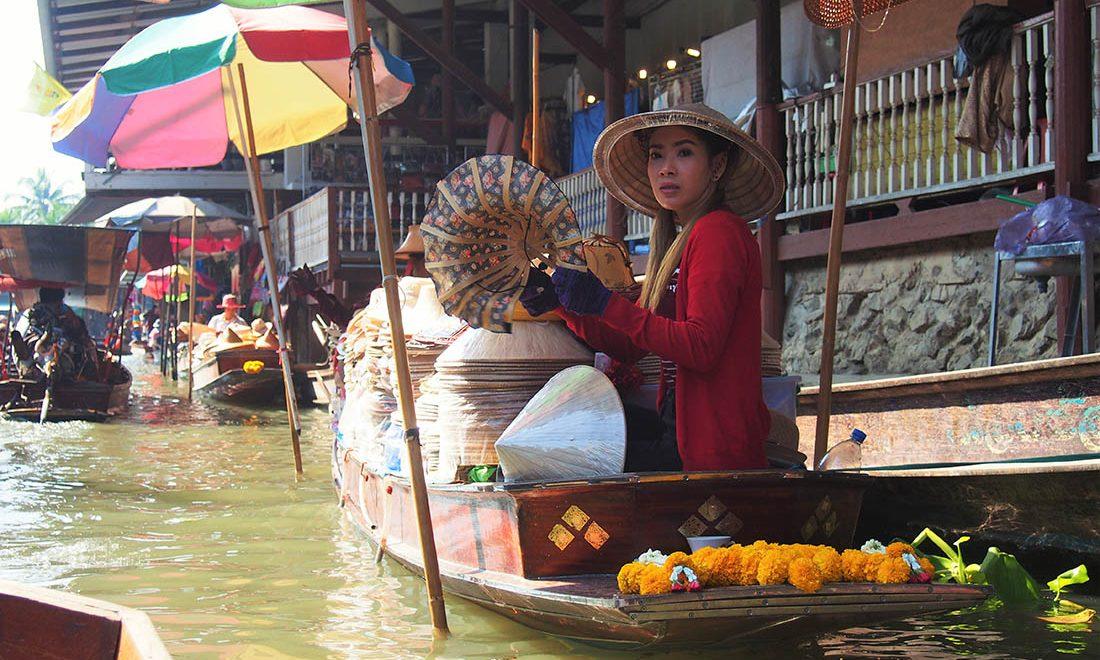 bangkok marche flottant marchandes