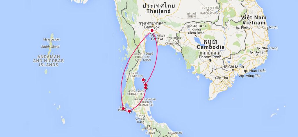 itineraire roadtrip thailande