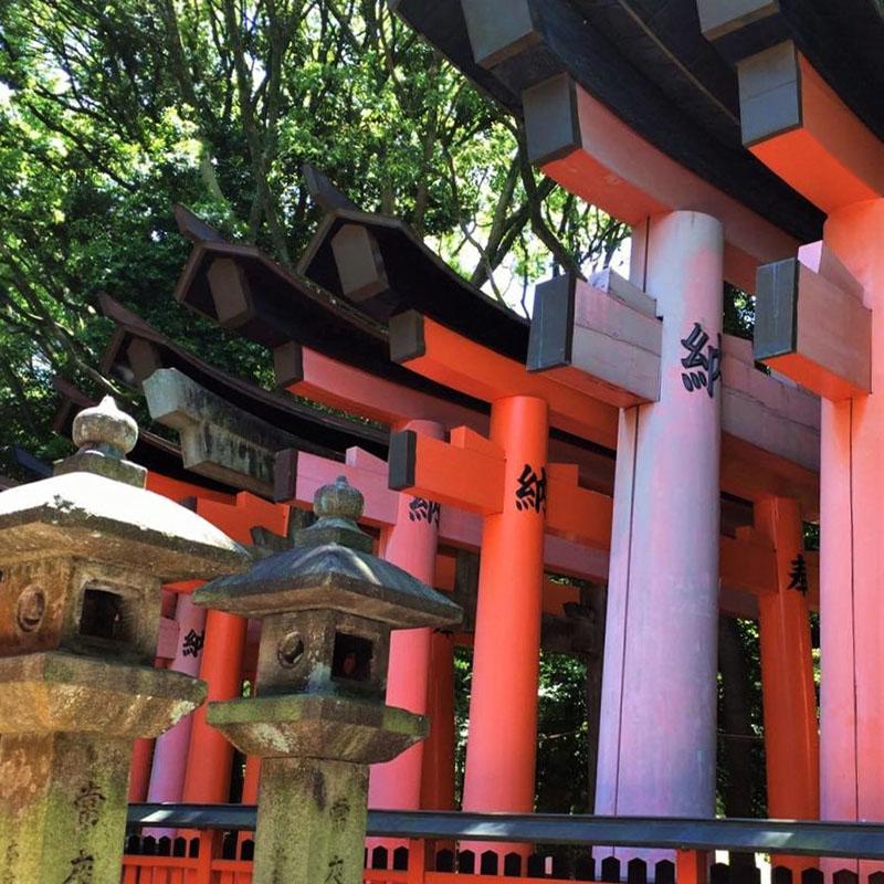 temple fushimi kyoto japon